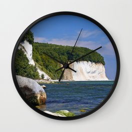 Chalk coast, Ruegen in Germany Wall Clock