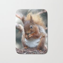Hungry squirrel Bath Mat