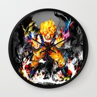 goku Wall Clocks featuring Goku by ururuty