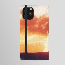 Sunset castle city in the clouds iPhone Wallet Case