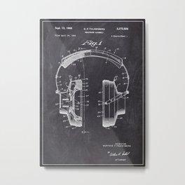 1966 headphone patent Metal Print