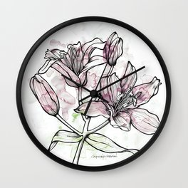 BW DAY LILY Color Splash 2 Wall Clock