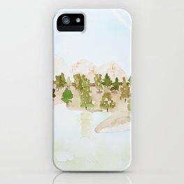 Pines and mountains iPhone Case