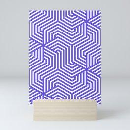 Majorelle blue - blue - Minimal Vector Seamless Pattern Mini Art Print