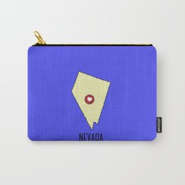 Nevada State Heart Carry-All Pouch