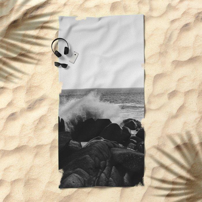 Monochrome Mexico Beach Towel