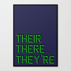 Their, There, They're Canvas Print