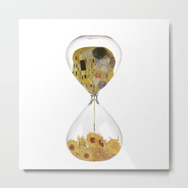 Hourglass of Love (Klimt) Metal Print