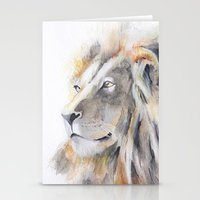 lion king Stationery Cards featuring Lion King by pablolabel