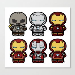 Chibi-Fi Iron Man Movie Armory Canvas Print