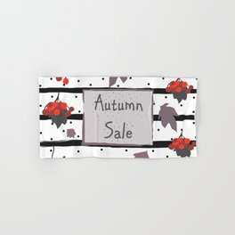Autumn Sale. Advertising Card Hand & Bath Towel