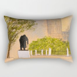 Winston Churchill And Big Ben Rectangular Pillow