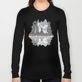 STONE KIRNS AND MOUNTAIN PEN DRAWING Long Sleeve T-shirt