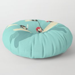 The Scourge of the Arctic Floor Pillow