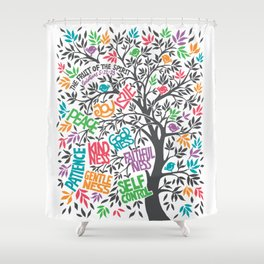 Fruit Of The Spirit (Full Color) Shower Curtain