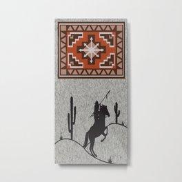 American Native Pattern No. 106 Metal Print
