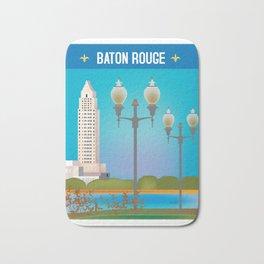 Baton Rouge, Louisiana - Skyline Illustration by Loose Petals Bath Mat