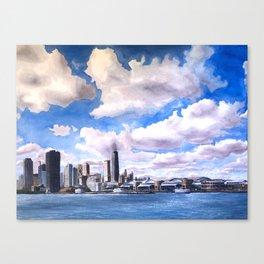 Chicago Watercolor Canvas Print