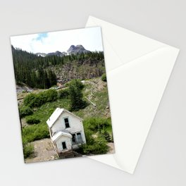 Switchbacks Down from Red Mountain Pass to the Idarado Mine Stationery Cards