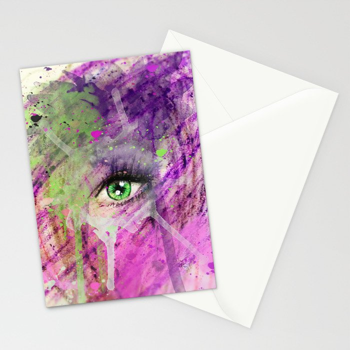 The eye of madness... Stationery Cards