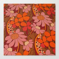 50s Canvas Prints featuring Crazy pinks 50s Flower  by Follow The White Rabbit