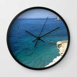 Summer Seascape Wall Clock