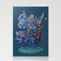fandom Stationery Cards featuring Fandom Moving Castle by nokeek