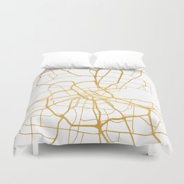 NASHVILLE TENNESSEE CITY STREET MAP ART Duvet Cover
