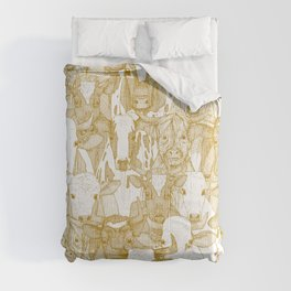 just ox gold white Comforters