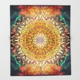 Cygnus Cosmic Mandala Throw Blanket