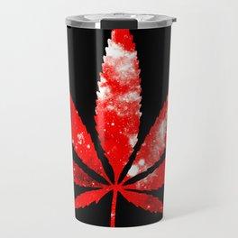 Weed : High Times red Galaxy Travel Mug