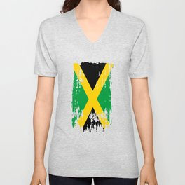 JM JAM Jamaica Flag Unisex V-Neck