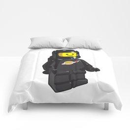Vintage Black Spaceman Minifig Comforters