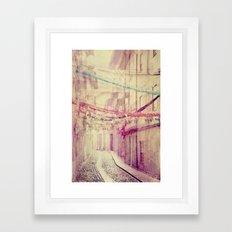 street party Framed Art Print