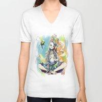 sandman V-neck T-shirts featuring Delirium by Archiri Usagi