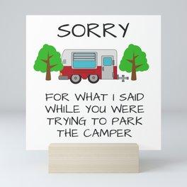 Camping Apologies Mini Art Print