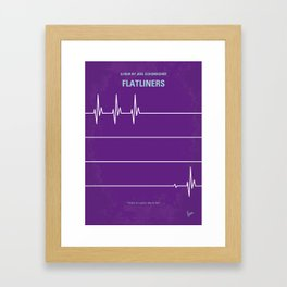 No841 My FLATLINERS minimal movie poster Framed Art Print
