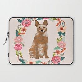 Australian Cattle Dog red heeler floral wreath dog gifts pet portraits Laptop Sleeve