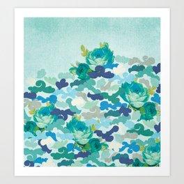 Camoflauge Roses Art Print