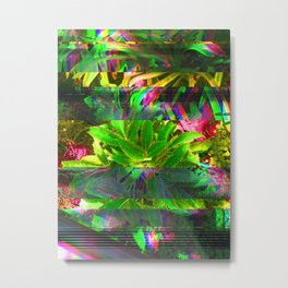 PLaNtS GLiTcH 2 Metal Print