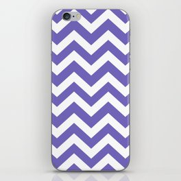 Blue-violet (Crayola) - violet color - Zigzag Chevron Pattern iPhone Skin