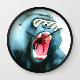 Gorilla with Shutter Shades Wall Clock