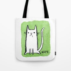 Nope Kitty Tote Bag
