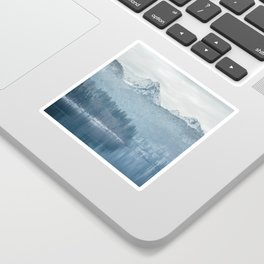 Lake and mountains - Bavarian Alps Sticker