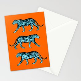 Tigers (Orange and Blue) Stationery Cards