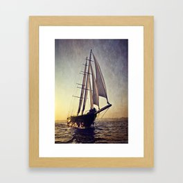 luxury big sailboat Framed Art Print