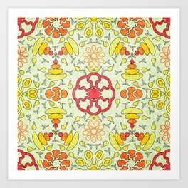Colorful Mandala #03 Art Print