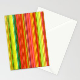 Rainbow Glowing Stripes Stationery Cards