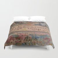 macaroons Duvet Covers featuring Macaroons by drskippyart