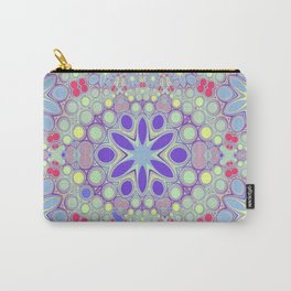 Hippy Circles And Flowers Carry-All Pouch